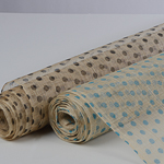 Medium Sizing Polka Dots Printed Sinamay Fabric