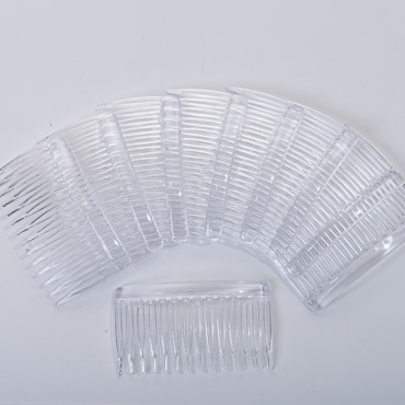 Dozen Clear Plastic Hair Comb Millinery Fascinator Supplies
