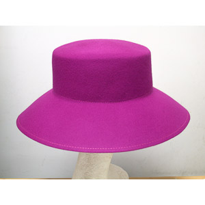 Lampshade Flat Top Blocked Untrimmed Felt Hat Base
