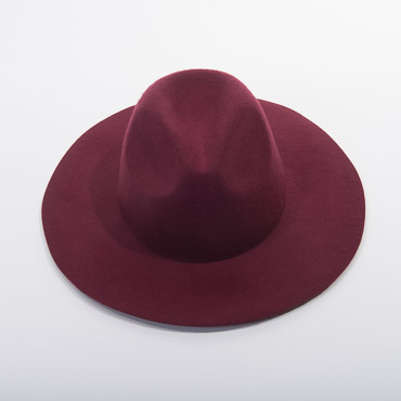 Wide Brim Fedora Blocked Untrimmed Felt Hat Base
