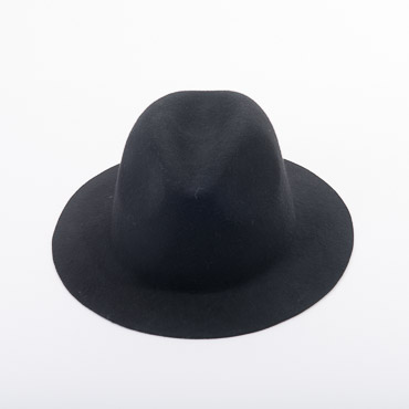 Medium Brim Fedora Blocked Untrimmed Felt Hat Base